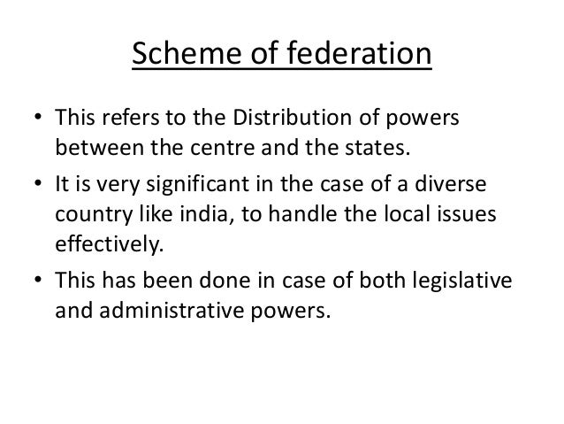 distribution of power between centre and state in indian constitution