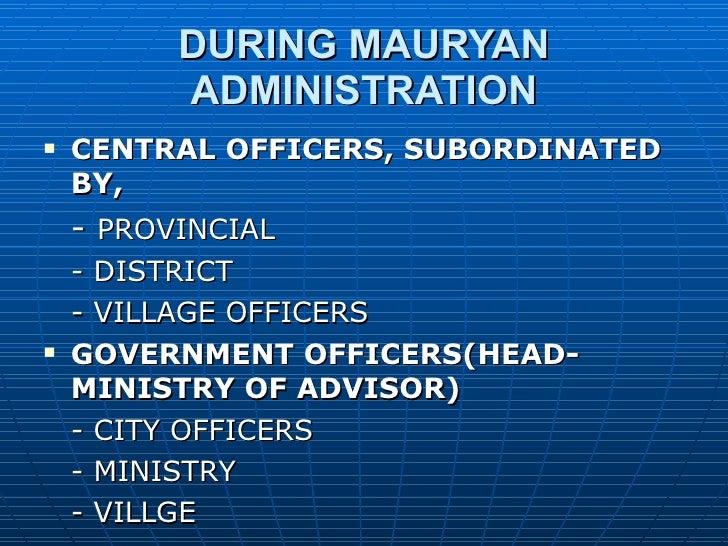 Mauryan administration