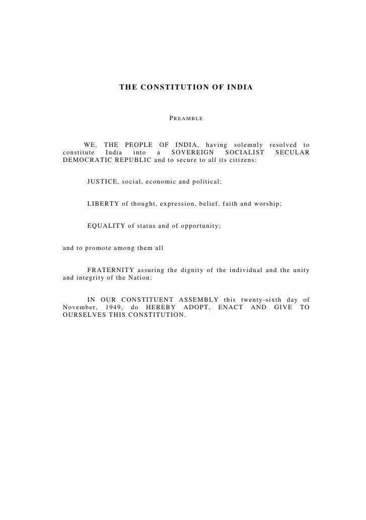 1                               THE CONSTITUTION OF INDIA                       THE CONSTITUTION OF INDIA                 ...