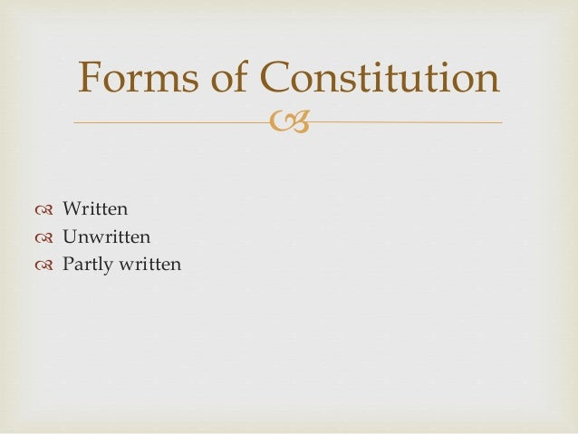 what is the difference between written and unwritten constitution
