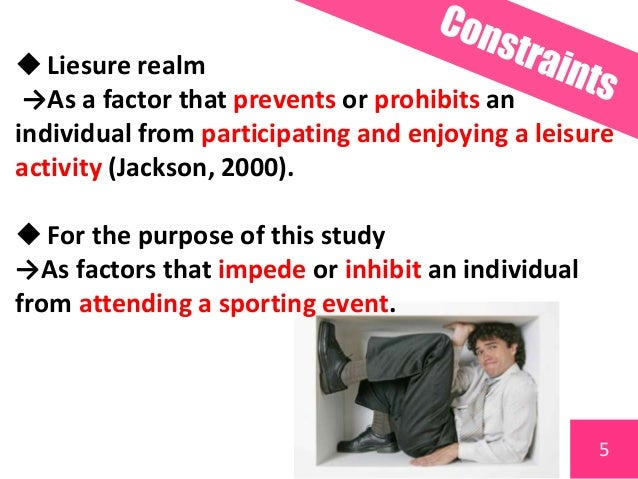 Constraints On Participating In Leisure