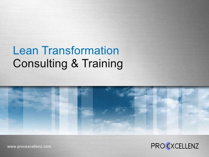 Lean Transformation  Consulting & Training