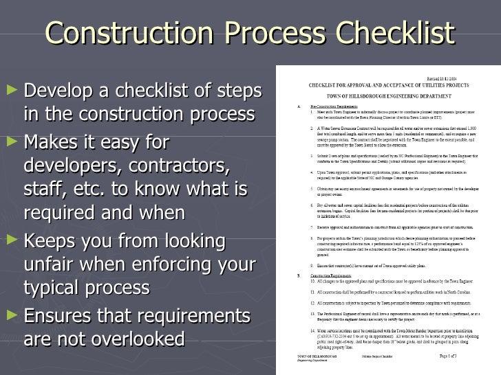 Construction Observation Tips