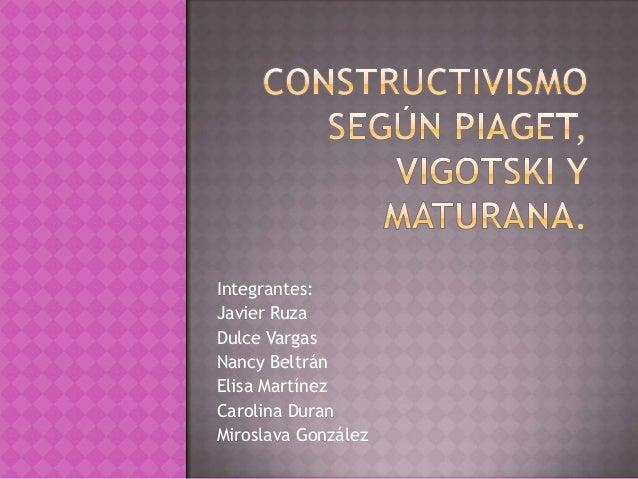 Integrantes:Javier RuzaDulce VargasNancy BeltránElisa MartínezCarolina DuranMiroslava González