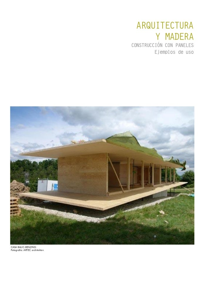 ARQUITECTURA                                      Y MADERA                                CONSTRUCCIÓN CON PANELES        ...