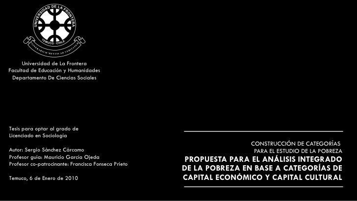 CONSTRUCCIÓN DE CATEGORÍAS  PARA EL ESTUDIO DE LA POBREZA PROPUESTA PARA EL ANÁLISIS INTEGRADO DE LA POBREZA EN BASE A CAT...