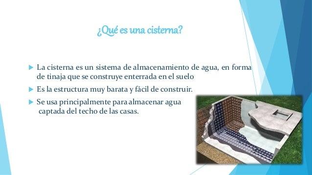 Construcci n de cisterna for Cual es el techo mas economico para una casa