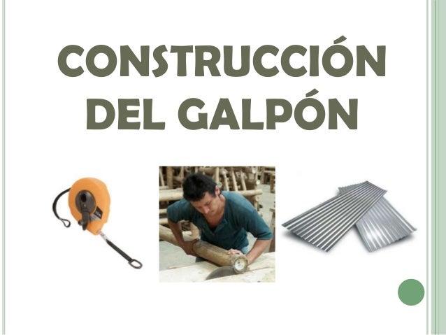 Construcci n de galpones for Construccion de galpones