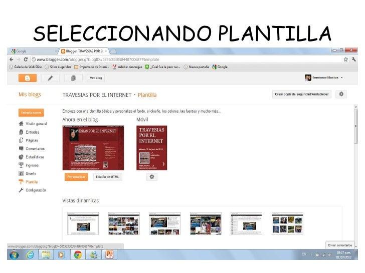 SELECCIONANDO PLANTILLA