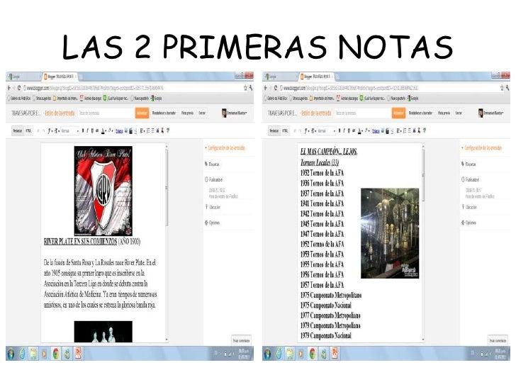 LAS 2 PRIMERAS NOTAS