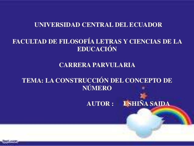 UNIVERSIDAD CENTRAL DEL ECUADORFACULTAD DE FILOSOFÍA LETRAS Y CIENCIAS DE LA                 EDUCACIÓN            CARRERA ...