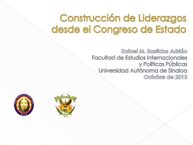   Legislador Líder › Teorías que explican el liderazgo  Laissez Fair, Transaccional, Transformacional (Bass, 1985)  ...