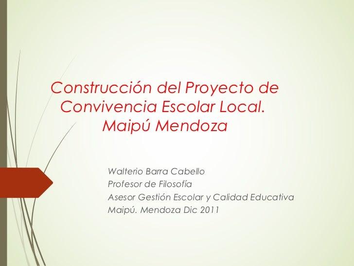 Construcci N Del Proyecto De Convivencia Escolar Local
