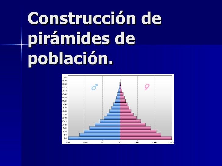 Construcción de pirámides de población.