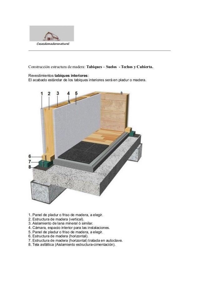 Construcci n estructura de madera tabiques suelos techos y cubi - Tabiques de madera ...