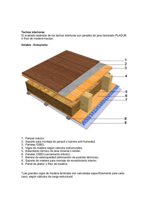 Construcci n estructura de madera tabiques suelos - Aislantes termicos para suelos ...