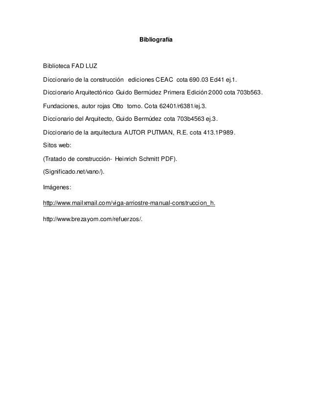 Terminos vano viga riostra y bloque for Diccionario de arquitectura pdf