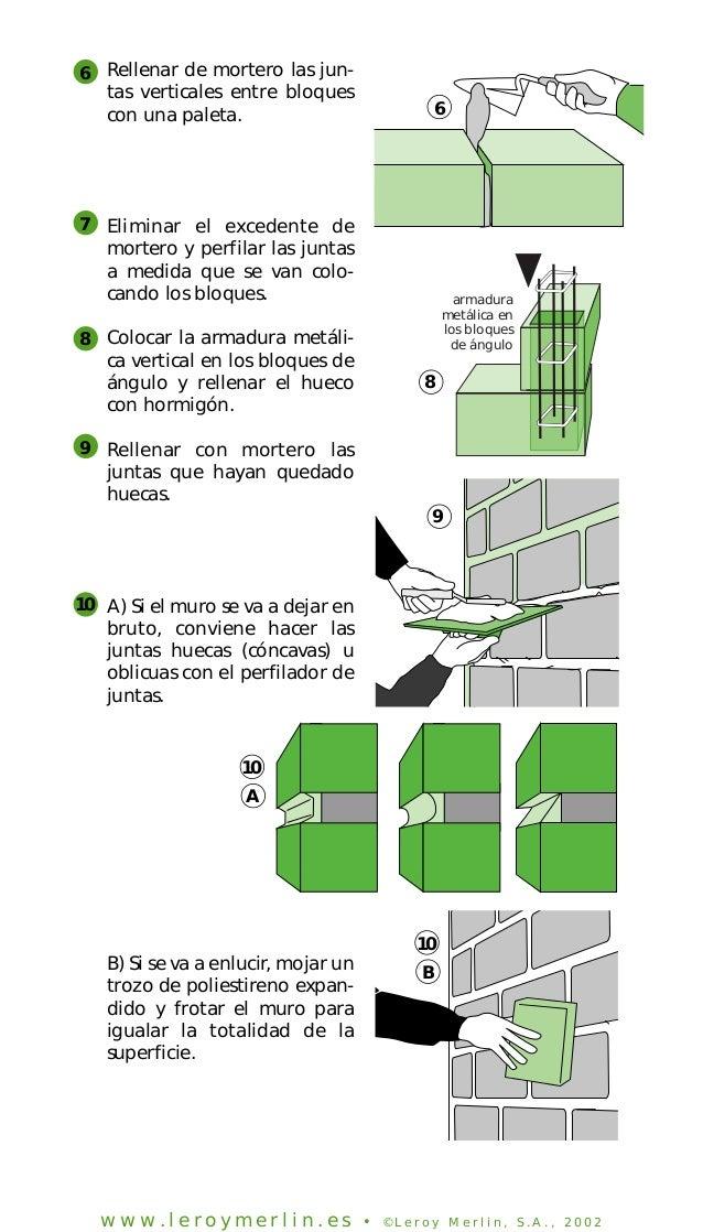 Construccion de paredes con bloques de - Bloques para muros ...