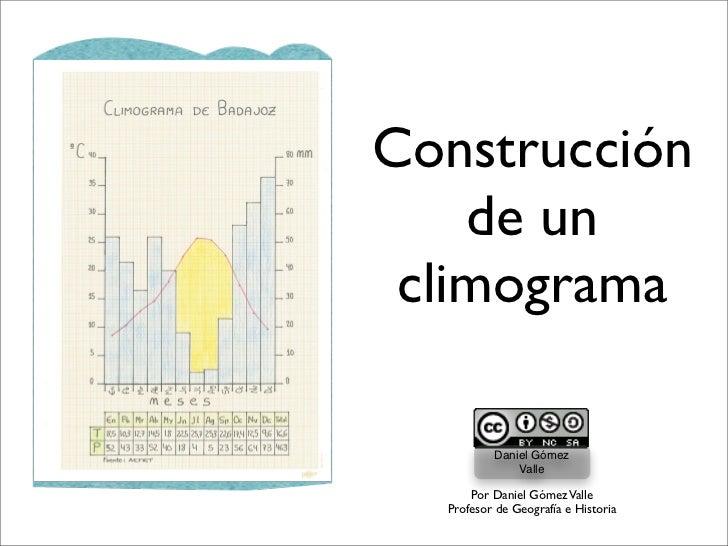 Construcción    de un climograma          Daniel Gómez              Valle      Por Daniel Gómez Valle  Profesor de Geograf...
