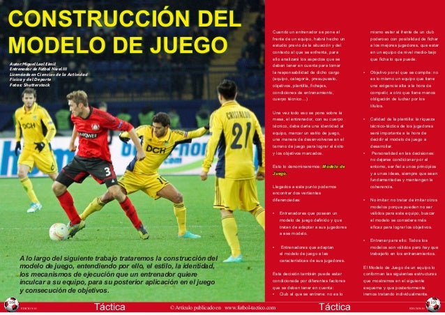 CONSTRUCCIÓN DEL MODELO DE JUEGO Autor:Miguel Leal Eimil Entrenador de Fútbol Nivel III Licenciado en Ciencias de la Activ...
