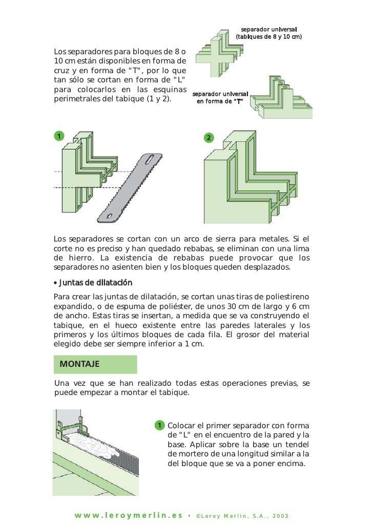 Construccion de tabiques con ladrillos de vidrio 2 - Tabique de vidrio ...