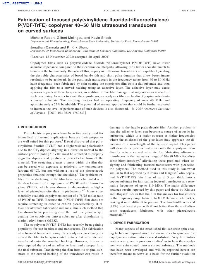 JOURNAL OF APPLIED PHYSICS                                        VOLUME 96, NUMBER 1                                     ...