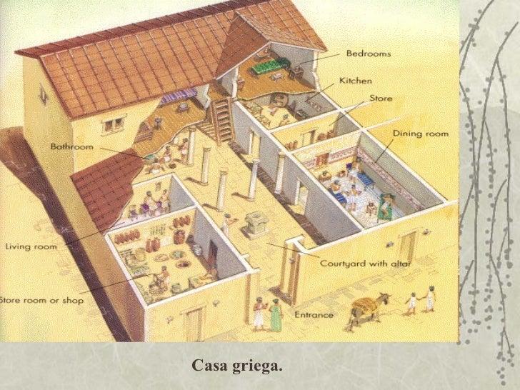 Construcciones romanas y griegas Como eran las casas griegas