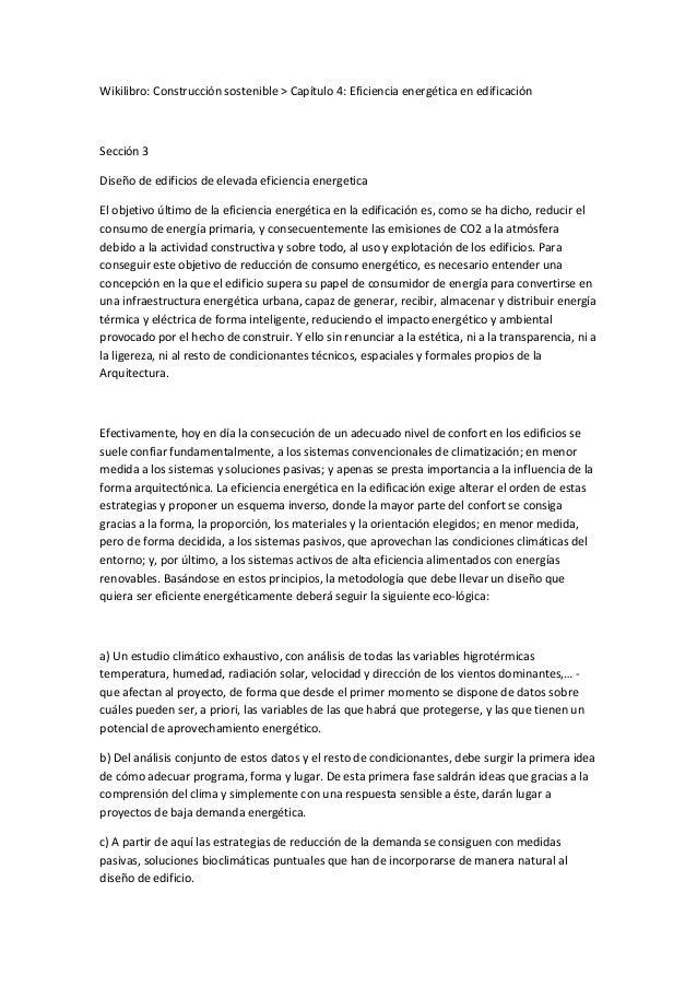 Wikilibro: Construcción sostenible > Capítulo 4: Eficiencia energética en edificación Sección 3 Diseño de edificios de ele...