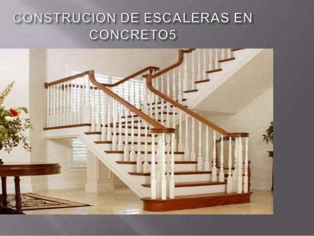 construcion de escaleras en concreto