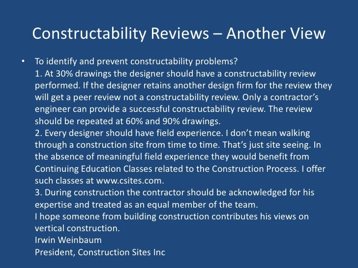 Constructability | emmaus constructors.