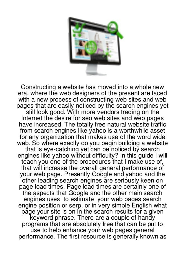 Constructing a website has moved into a whole newera, where the web designers of the present are faced with a new process ...