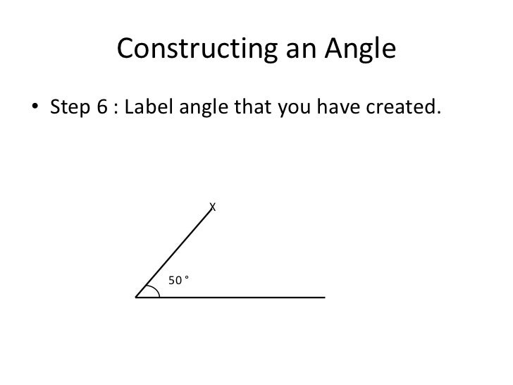 How To Draw 50 Degree Angle With Compass