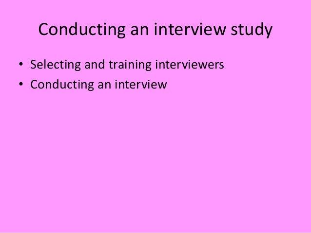 interview schedules