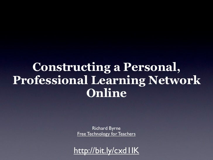 Constructing a Personal, Professional Learning Network             Online                   Richard Byrne           Free T...