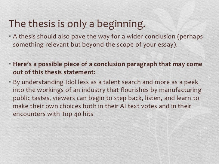 constructing a good thesis statement What are the steps to writing a thesis statement update cancel answer wiki 14 answers what are some good examples of how to construct a thesis statement.
