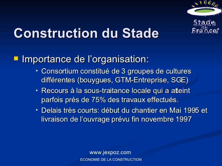 construction du stade de france www jexpoz. Black Bedroom Furniture Sets. Home Design Ideas