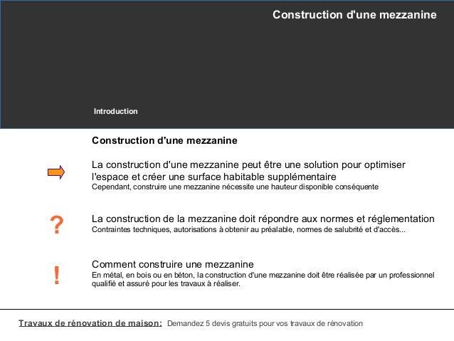 Construction d 39 une mezzanine - Construire une mezzanine suspendue ...