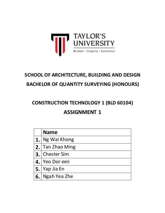 the construction technology assignment construction essay This is not an example of the work written by our professional essay writers  d:\ paste\assignments\construction technology and services\2jpg [1.