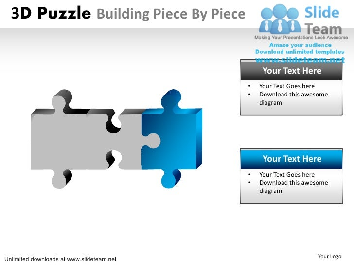 3D Puzzle Building Piece By Piece                                                Your Text Here                           ...
