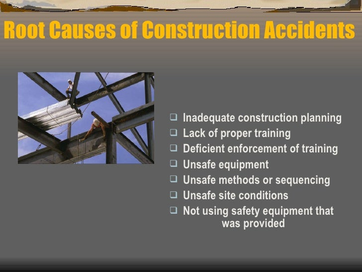the causes of construction site accidents Construction sites can be incredibly dangerous, especially those that are roadside when there are mistakes in road construction zones, both workers and motorists can be seriously injured.