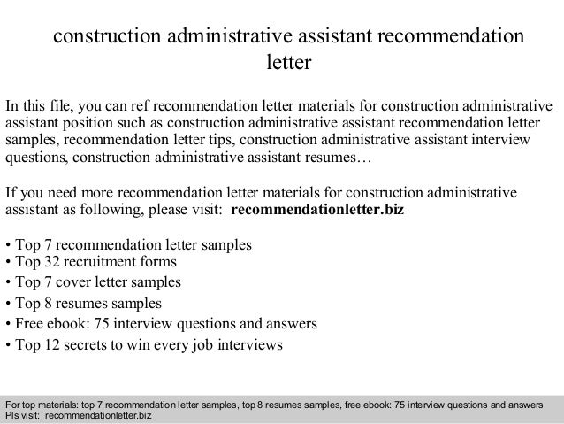 interview questions and answers free download pdf and ppt file construction administrative assistant recommendation