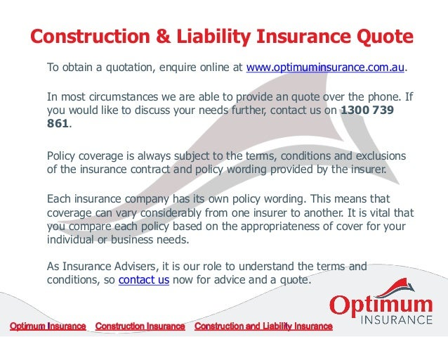 Construction And Liability Insurance