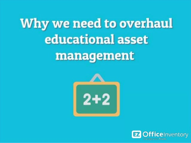 Why do schools need asset tracking software? In 2015, around 50.1 million students in America were part of a K-12. School ...