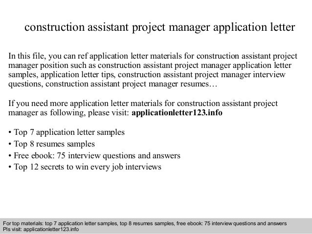 assistant project manager construction Find the best construction assistant project manager resume samples to help you improve your own resume each resume is hand-picked from our large database of.