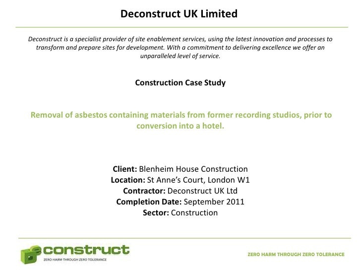 Case Study: The use of Construction - and Contract ...