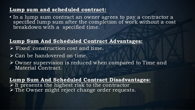 Construction contract – Time and Materials Construction Contract