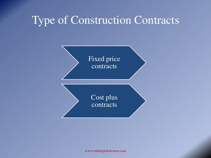 Construction contracts – Types of Construction Contract