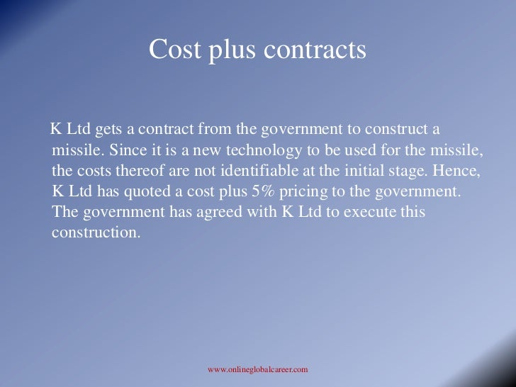 Construction contracts for Cost plus building contract