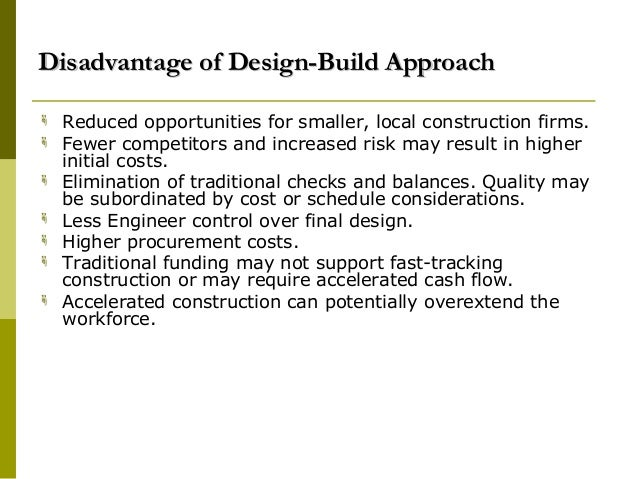 Cost Certainty Of Design And Build Contract