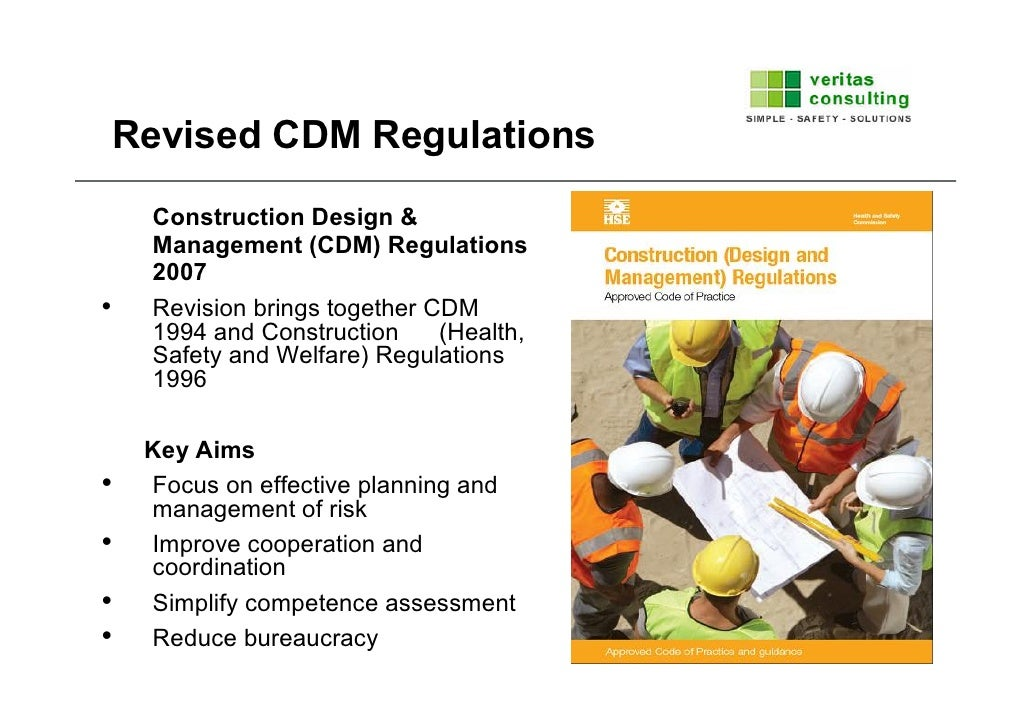 Construction design and management regulations cdm2007 for Construction rules and regulations